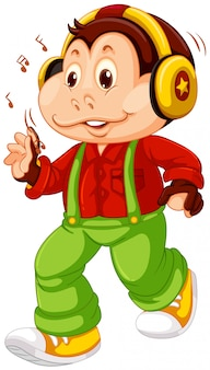 A monkey cartoon character Free Vector