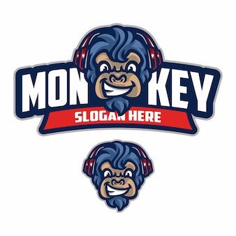 Monkey e sports logo