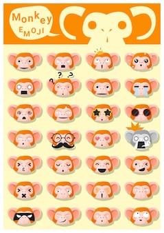 Monkey emoji icons