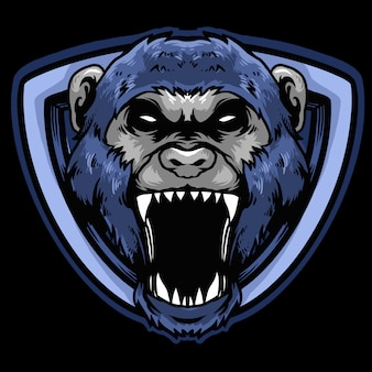 Логотип обезьяны киберспорт