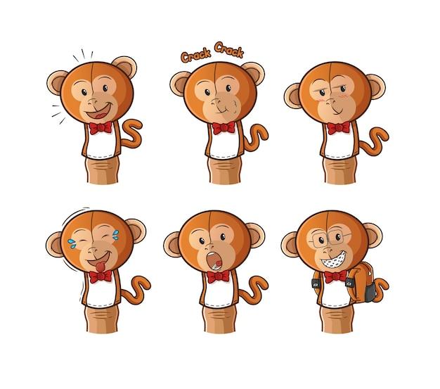 원숭이 손가락 인형 만화.