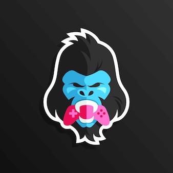 Обезьяна горилла кинг король игровой стикер