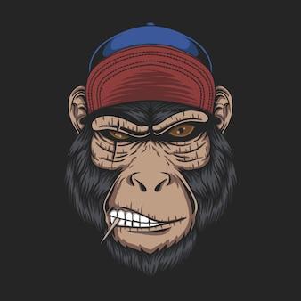 Кепка с обезьяньей головой для вашей компании или бренда