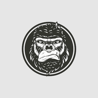 Monkey head illustration
