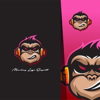 원숭이 머리 로고 디자인