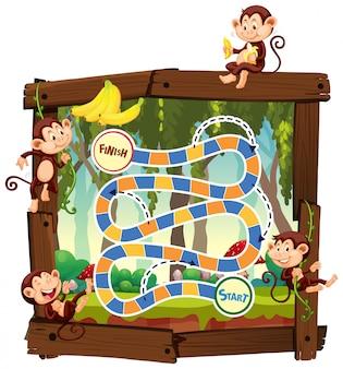 Monkey in jungle board game