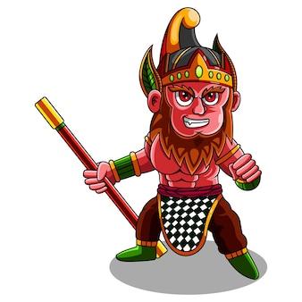Логотип талисмана короля обезьян чиби