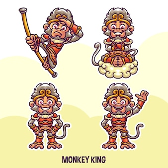 Monkey king illustration character