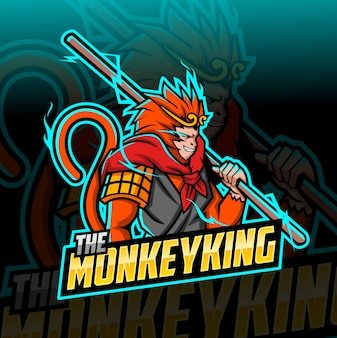 The monkey king mascot esport logo
