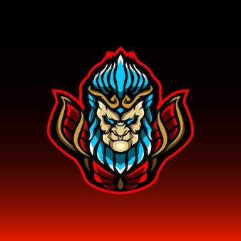 Monkey kingmascot logo