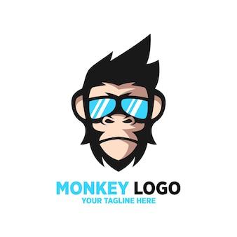 원숭이 로고 디자인 템플릿