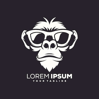 Monkey logo design vector