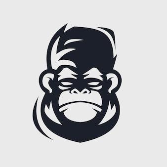 Дизайн логотипа обезьяны