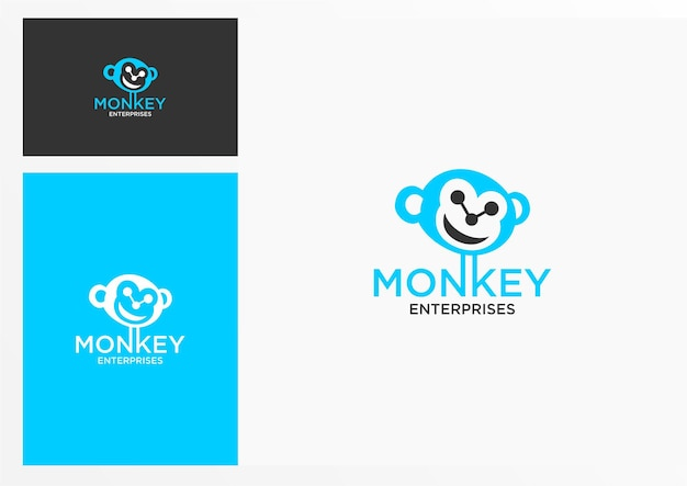 다른 용도를 위한 원숭이 로고 그래픽 디자인이 완벽합니다.