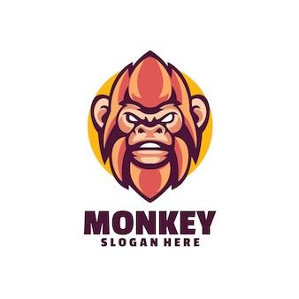 Логотип обезьяны, изолированные на белом фоне
