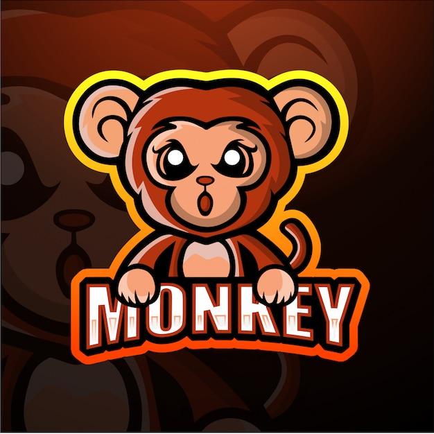 猿のマスコットeスポーツイラスト