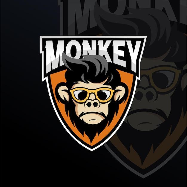 원숭이 마스코트 로고 디자인 서식 파일