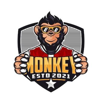원숭이 마스코트 로고 디자인