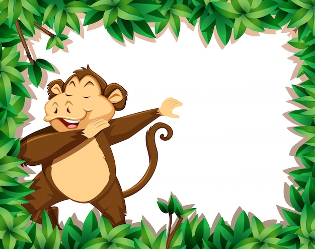 A monkey in nature frame