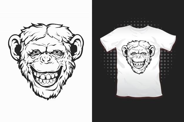 몽키 프린트 티셔츠