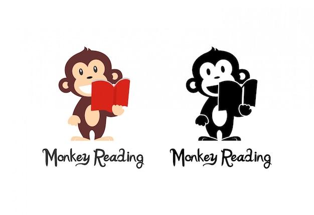 Monkey reading