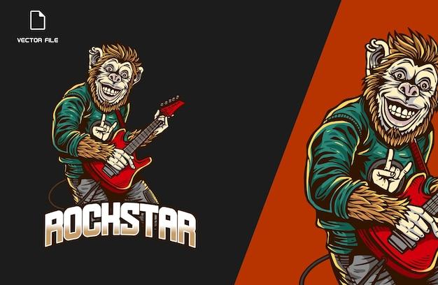 원숭이 rockstar e스포츠 게임 로고