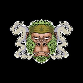Monkey smoke mascot