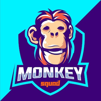 モンキーチームeスポーツロゴデザイン
