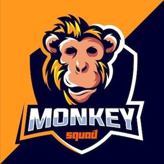 Дизайн логотипа отряда обезьян киберспорт