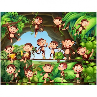 Monkeys background design