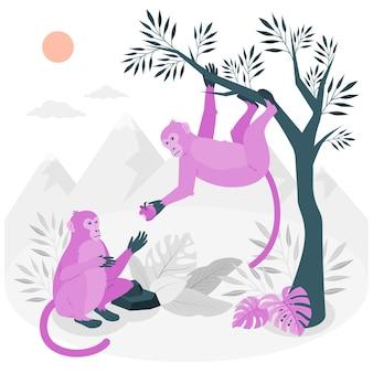 Illustrazione del concetto di scimmie