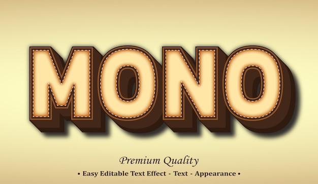 Mono  font style effect