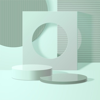 Monochromatic abstract 3d scene