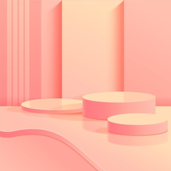 Monochromatic abstract 3d scene