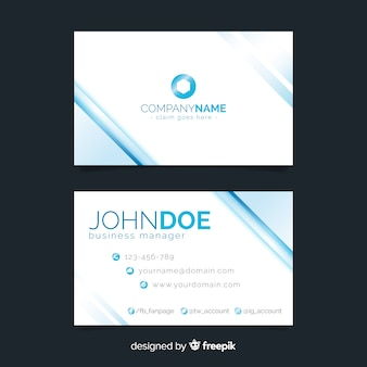 Monochromatic abstract business card template