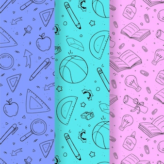 Monochromatic back to school patterns