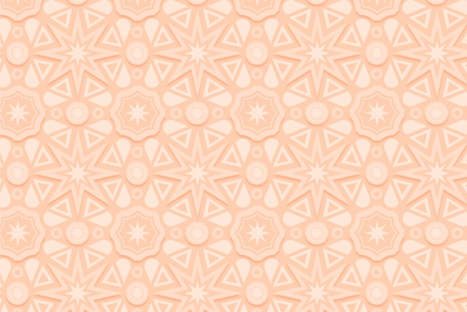 Monochromatic beige pattern with shapes