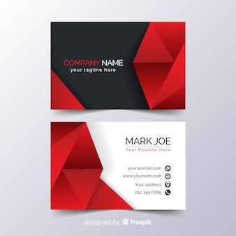 Monochromatic business card template