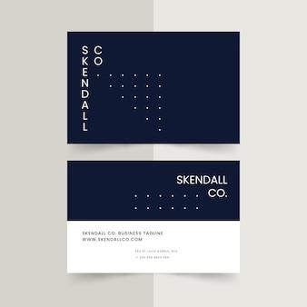 Monochromatic business card template