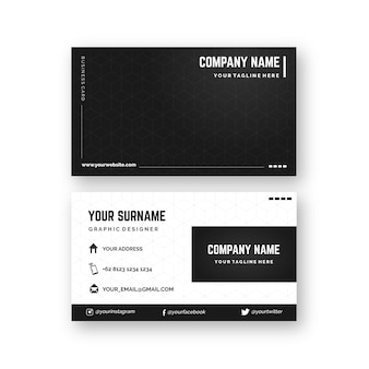 Monochromatic business card theme