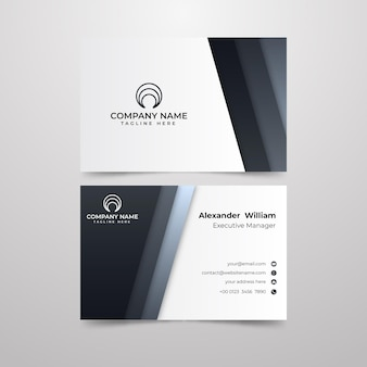 Monochromatic business card