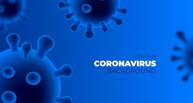 Монохромный фон коронавируса
