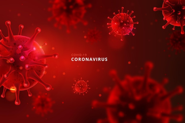 Monochromatic coronavirus background