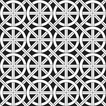 Monochromatic ethnic seamless pattern