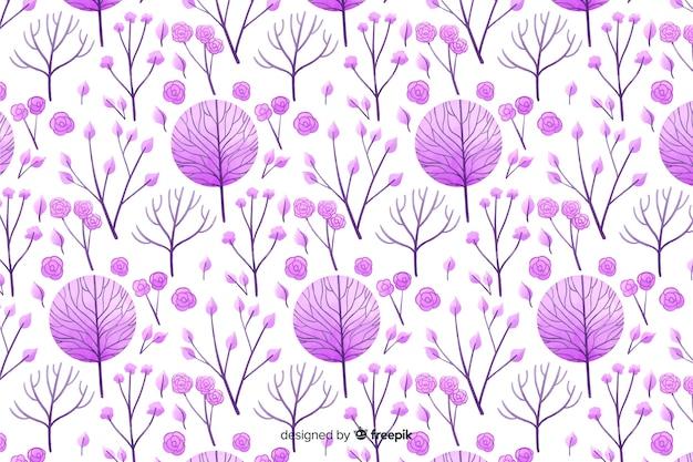 Монохромный цветочный акварельный фон