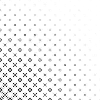 Монохроматический геометрический стилизованный цветочный узор - абстрактный цветочный векторный фон графический дизайн