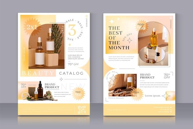 Monochromatic gradient beauty product catalog