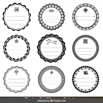 Monochromatic ornamental circular badges