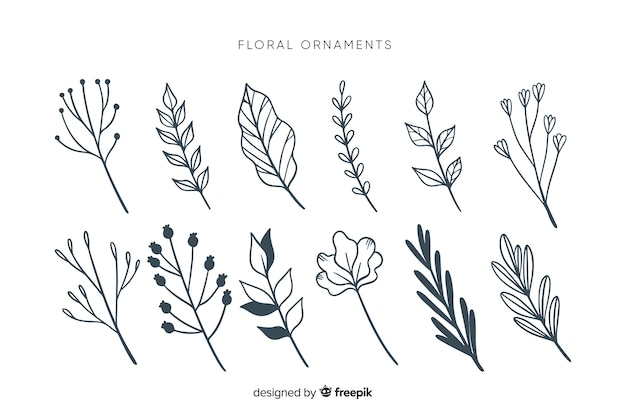 Monochromatic ornamental collection