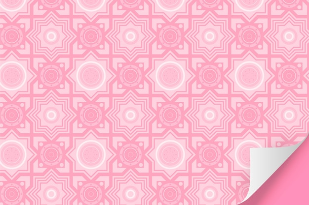 Monochromatic pale pink pattern with shapes